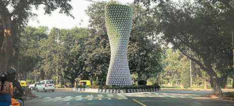 Empresa desenvolve torres para purificação do ar na capital da Índia