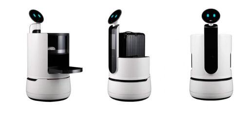 LG anuncia robôs conceito para carregar bebidas, malas e compras dos usuários