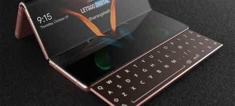 Samsung Galaxy Z Fold 3 com três telas e teclado deslizante? Veja imagens
