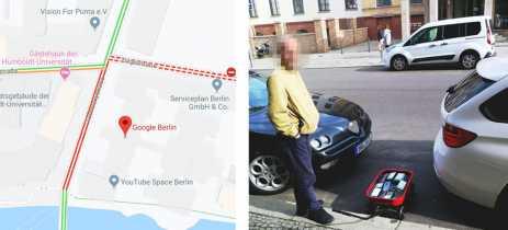 Artista usa 99 celulares para criar engarrafamentos falsos no Google Maps