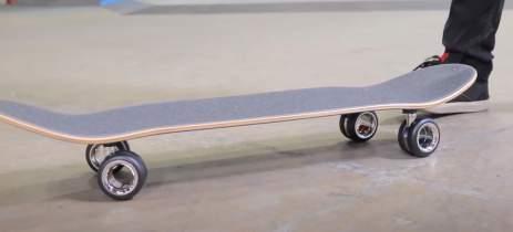 Rodas do Mac Pro que custam US$ 699 são usadas em um skate