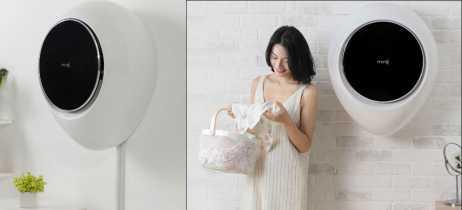 Xiaomi lança máquina de lavar roupa MiniJ Wall que fica na parede