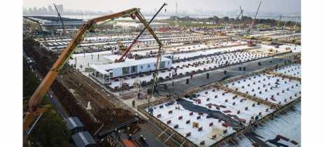 Veja como os chineses estão construindo um hospital com mais de 1.000 leitos em 10 dias