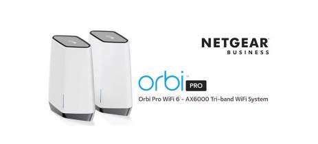 Netgear lança novo roteador Orbi Pro WiFi 6 AX6000 Tri-band Mesh