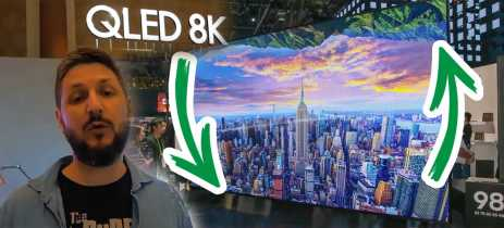 QLED 8K e TVs QUE GIRAM  no stand da SAMSUNG na CES 2020!