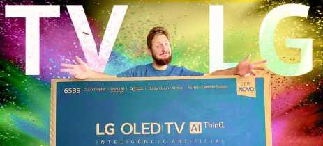TV LG OLED 65B9: tiramos da caixa + primeiras impressões da TV de entrada da linha OLED da LG