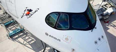 Airbus mostra seu novo drone de inspeção para aviões