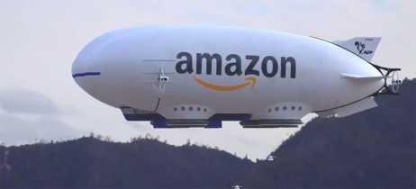 Vídeo que mostra dirigível da Amazon soltando drones com objetos para entrega é falso