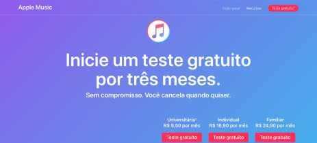 Apple Music volta a ter três meses de teste grátis no Brasil