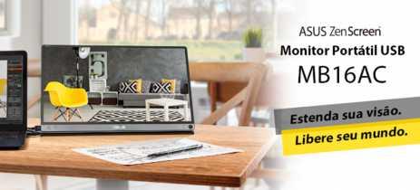 Asus apresenta monitor USB portátil ZenScreen MB16AC