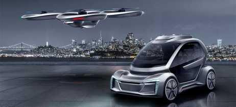 Audi e Airbus criam conceito de carro elétrico que se acopla a drone para voar