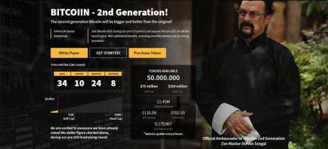 Nova criptomoeda Bitcoiin2Gen tem Steven Seagal como embaixador oficial