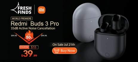 Redmi Buds 3 Pro com bateria de até 28h e cancelamento ativo de ruído por US$ 39,99