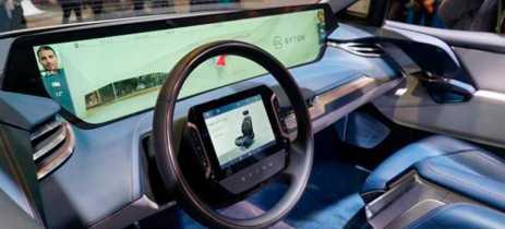 Byton apresenta carro elétrico com tela de 48 polegadas no painel