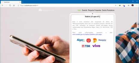 Site Cadastro Pré permite verificar linhas de telefonia móvel ativas com o CPF