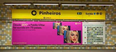 Spotify cria campanha no metrô de SP que relembra a década