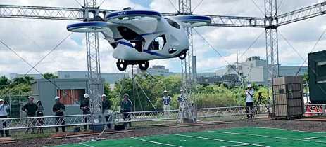 Empresa japonesa obtém sucesso em testes com carro voadores