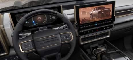 Automóvel Hummer EV possui IU construída na Unreal Engine
