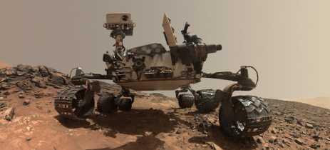 Bela fotografia é tirada pelo rover Curiosity da NASA, em Marte
