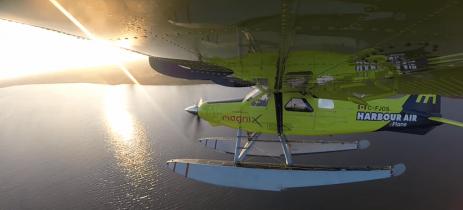 Hidroavião 100% elétrico voou pela primeira vez no Canadá