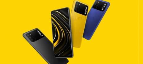 Renderização revela que o POCO M3 virá nas cores amarelo, azul e cinza