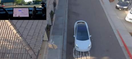 Carro autônomo x drone autônomo: Veja vídeo de um Tesla vs. Skydio 2