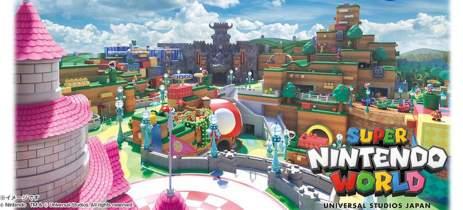 Parque temático Super Nintendo World abrirá em 4 de fevereiro de 2021