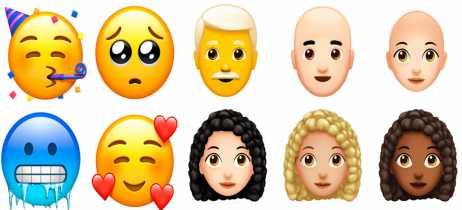 Apple lança emojis com novos estilos de cabelo e diferentes expressões