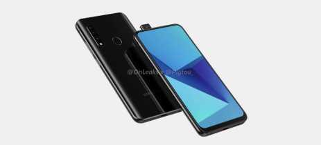 Primeiro celular da Samsung com câmera pop-up aparece em renderizações