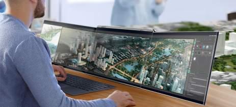 Compal Airttach é um notebook conceitual com telas extras que se conectam sem fio