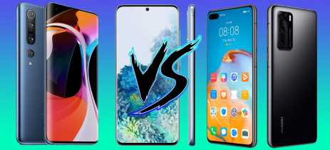 Samsung Galaxy S20 vs Xiaomi Mi 10 vs Huawei P40 - comparativo Android high-end!