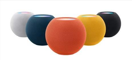 Apple anuncia novas cores para o HomePod mini: amarela, azul e laranja