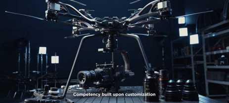 Novo drone DJI Storm é um octocóptero para serviços pesados de cinematografia