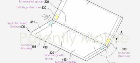 Samsung cria dobradiça magnética para smartphones dobráveis