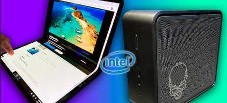 Notebooks com tela dobrável da Intel e mini PC NUC 9 de alto desempenho!