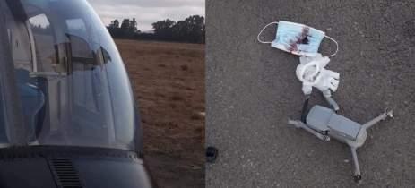 Drone DJI Mavic Air 2 colide com helicóptero da marinha chilena