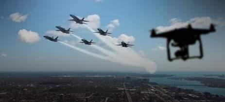 Drone chega MUITO perto de jatos caça nos EUA - Veja o vídeo