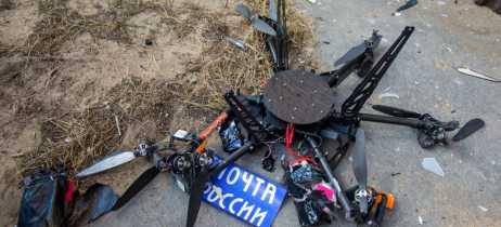 Drone de entrega russo bate em parede durante seu voo inaugural