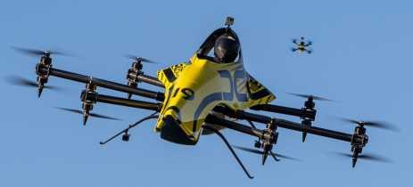 Drone que leva pessoa e faz acrobacias é controlado remotamente - Veja vídeo
