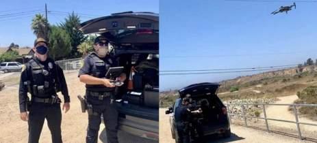 Polícia prende suspeito com ajuda de drone nos EUA