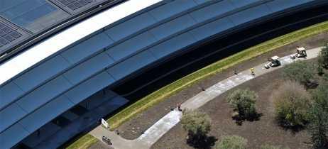 Drones mostram Apple Park sendo preparado pra WWDC 2018