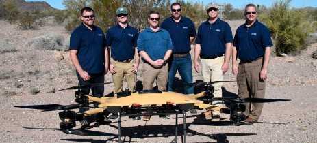 Drones fazem competição para entregar suprimentos a fuzileiros navais