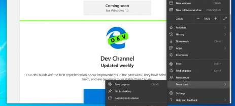 Atualização Edge Dev 85.0.564.8 traz várias novidades para versão beta do navegador