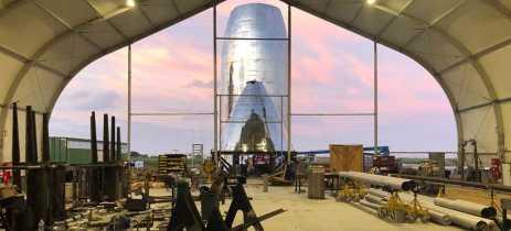 Elon Musk publica novas fotos do protótipo da espaçonave SpaceX Starship