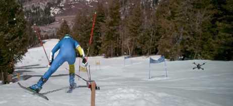 Vídeo mostra corrida entre esquiador medalhista olímpico e drone FPV