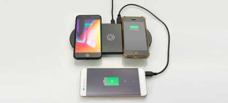 Dois em um: LXORY lança carregador sem fio Qi duplo com suporte para USB e Lightning