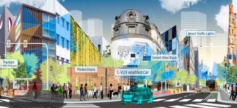 Ford testa a tecnologia C-V2X, que conecta carros e ambiente para aprimorar direção