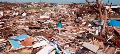 Furacão Dorian: imagens de drones mostram os destroços nas Bahamas