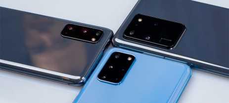Update de abril para o Galaxy S20 melhora as câmeras dos celulares