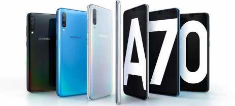 Updates de abril para o Galaxy A70 e Galaxy M31 estão